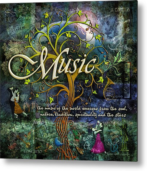 Music Metal Print featuring the photograph Music by Evie Cook