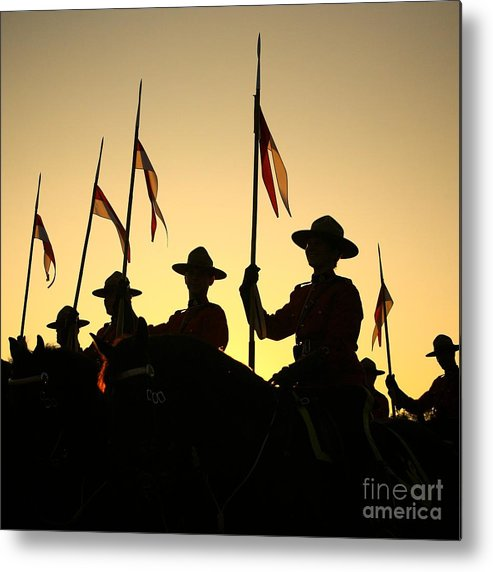 Rcmp Metal Print featuring the photograph Musical Ride by Chris Dutton