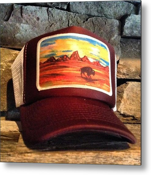 Batik Metal Print featuring the photograph My Original Artwork Printed On  Hats! by Abby Paffrath 31076449d3fd