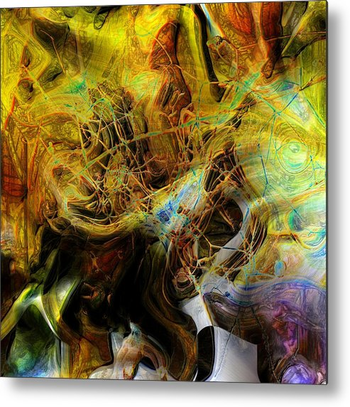 Abstract Metal Print featuring the photograph Mycelium Scene by Richard Thomas