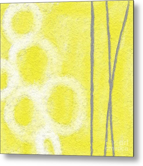 Abstract Art Metal Print featuring the painting Narcissus by Linda Woods