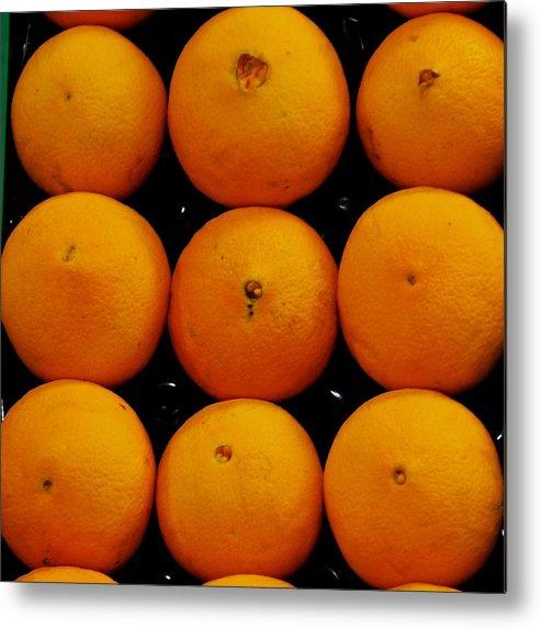 Orange Metal Print featuring the photograph Nine Oranges by Eric Tressler