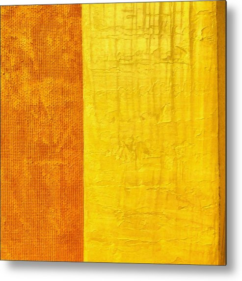 Abstract Paintings Metal Print featuring the painting Orange Pineapple by Michelle Calkins