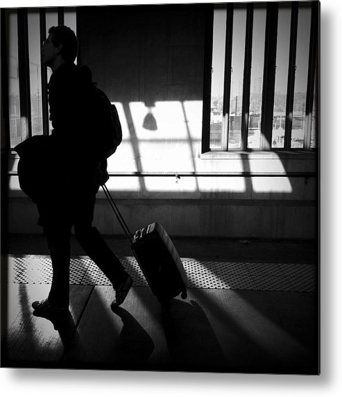 Urban Metal Print featuring the photograph Passing Through by Elena Bouvier