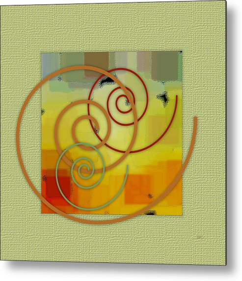 Abstract Metal Print featuring the digital art Patchwork I by Ben and Raisa Gertsberg