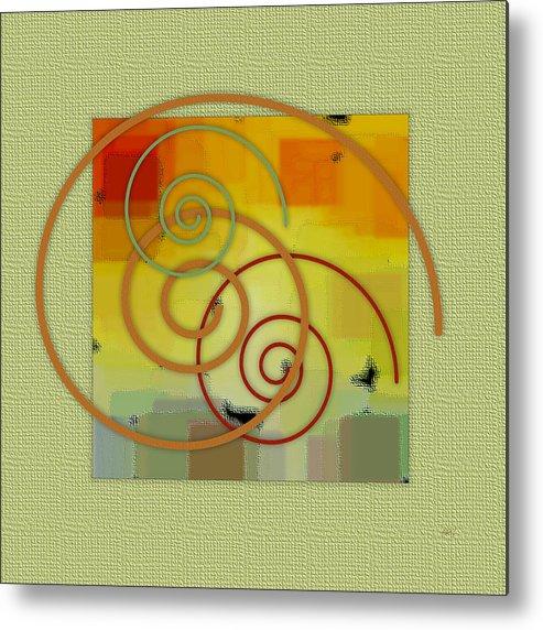 Abstract Metal Print featuring the digital art Patchwork II by Ben and Raisa Gertsberg