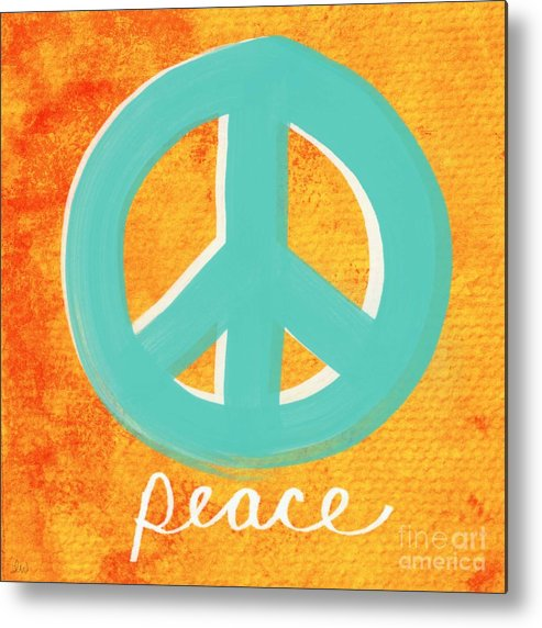 Peace Metal Print featuring the painting Peace by Linda Woods