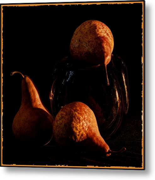 Pears Metal Print featuring the photograph Pears by Andrei SKY