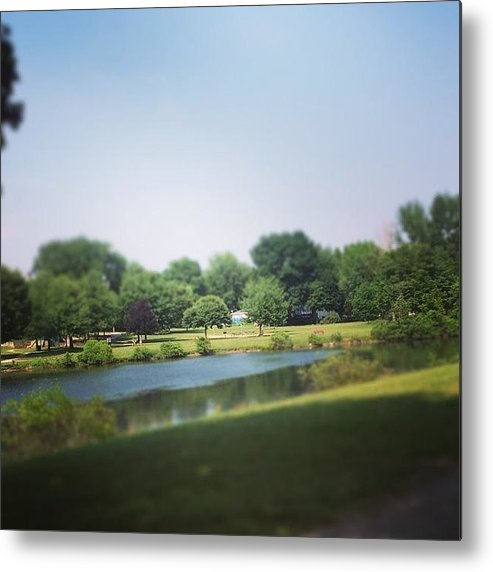 Landscape Metal Print featuring the photograph Perfect Park Afternoon by Christy Beckwith