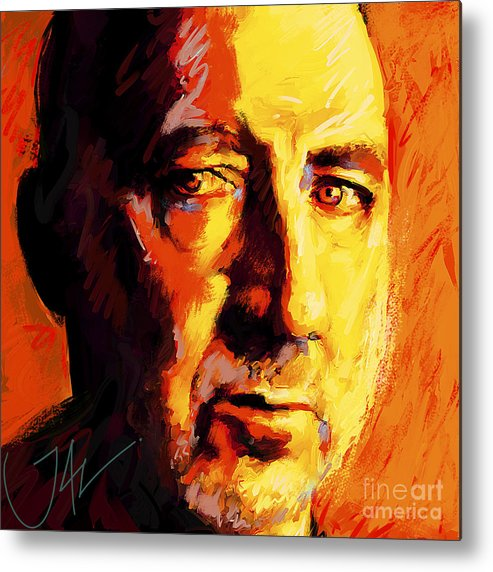 The Who Metal Print featuring the digital art Pete Towsend by John Lowther