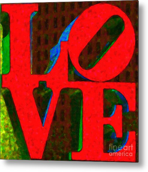 Love Metal Print featuring the photograph Philadelphia Love - Painterly V1 by Wingsdomain Art and Photography