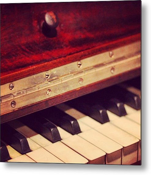 Metal Print featuring the photograph Piano by Marie-Claude Charron