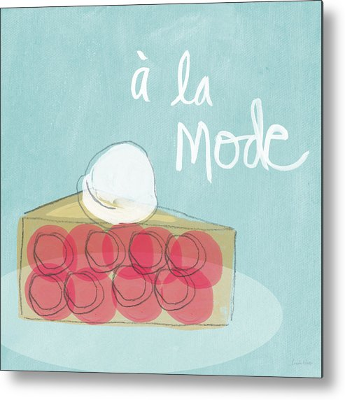 Pie Metal Print featuring the painting Pie A La Mode by Linda Woods