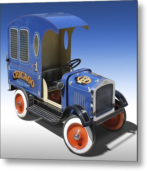 Peddle Car Metal Print featuring the photograph Police Peddle Car by Mike McGlothlen