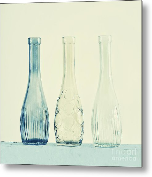 Simplicity Metal Print featuring the photograph Powder Blue by Priska Wettstein