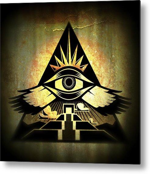 Third Eye Metal Print featuring the digital art Power Pyramid by Milton Thompson