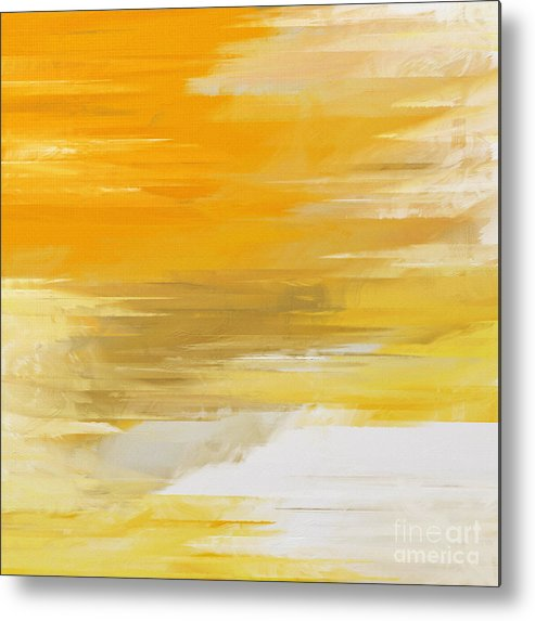 Abstract Metal Print featuring the digital art Precious Metals Abstract by Andee Design