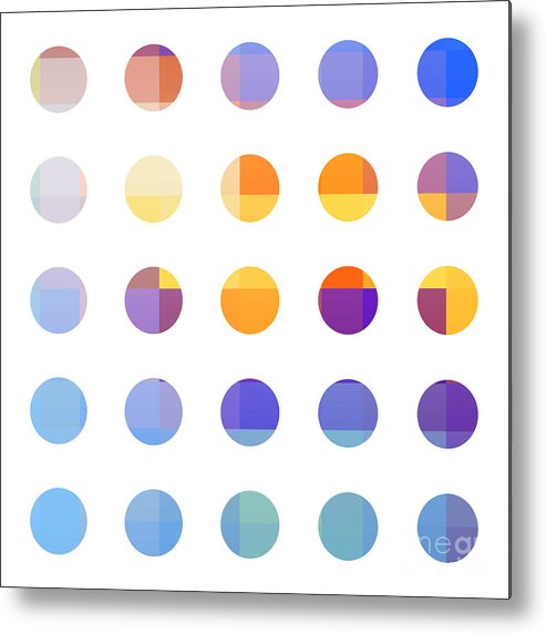Abstract Metal Print featuring the painting Rainbow Dots by Pixel Chimp