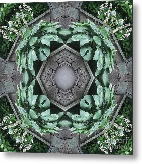 Newport Metal Print featuring the photograph Rhode Island Garden Three by Coventry Wildeheart