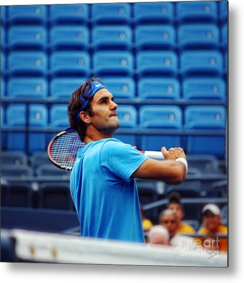 Roger Federer Metal Print featuring the photograph Roger Federer by Nishanth Gopinathan