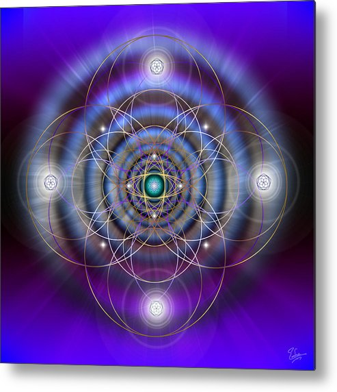 Endre Metal Print featuring the digital art Sacred Geometry 369 by Endre Balogh