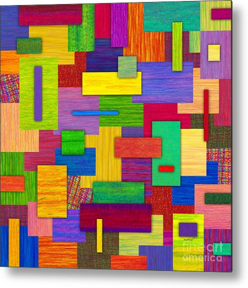 Colored Pencil Metal Print featuring the painting Sampler by David K Small