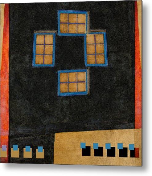 Carol Leigh Metal Print featuring the photograph Santa Fe Windows by Carol Leigh