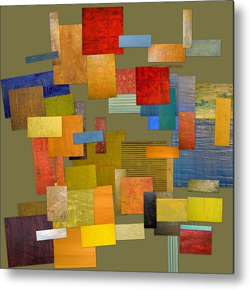 Textural Metal Print featuring the painting Scrambled Eggs Ll by Michelle Calkins