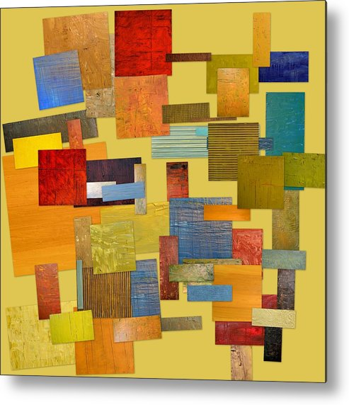 Textural Metal Print featuring the painting Scrambled Eggs Lll by Michelle Calkins