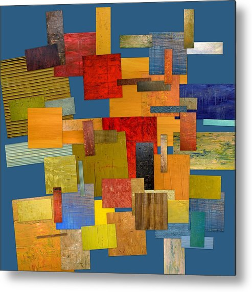 Textural Metal Print featuring the painting Scrambled Eggs Lv by Michelle Calkins