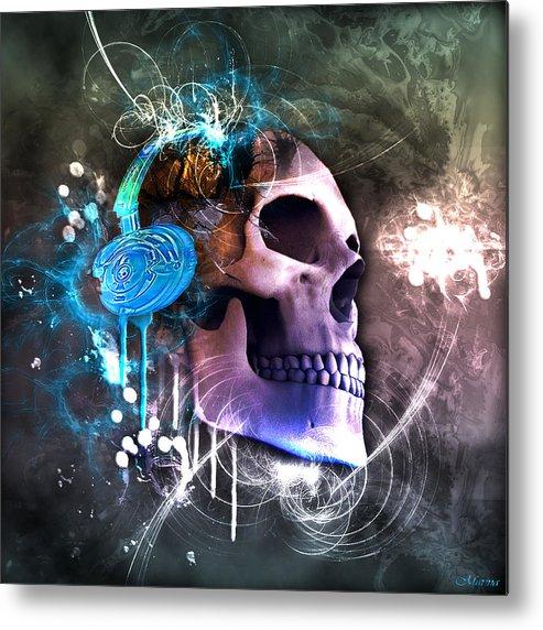 Skull Metal Print featuring the digital art Scrap Skull by Marina Vergult