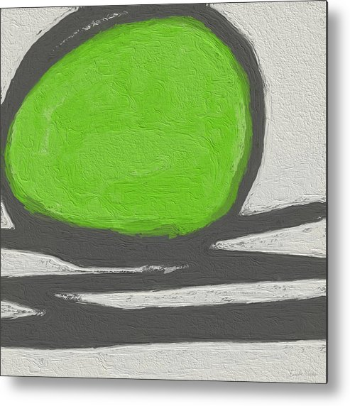Abstract Metal Print featuring the painting Seed by Linda Woods
