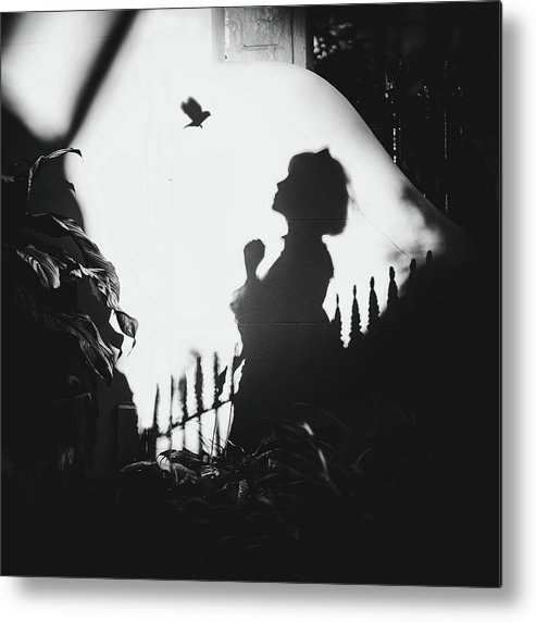 Conceptual Metal Print featuring the photograph Shadows On The Wall by Terry F