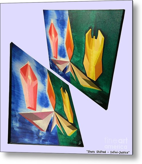 Spirituality Metal Print featuring the painting Shots Shifted - Infini-justice 1 by Michael Bellon