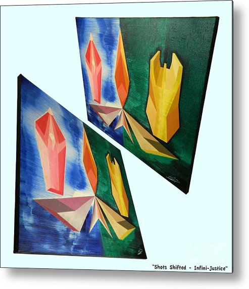 Spirituality Metal Print featuring the painting Shots Shifted - Infini-justice 6 by Michael Bellon