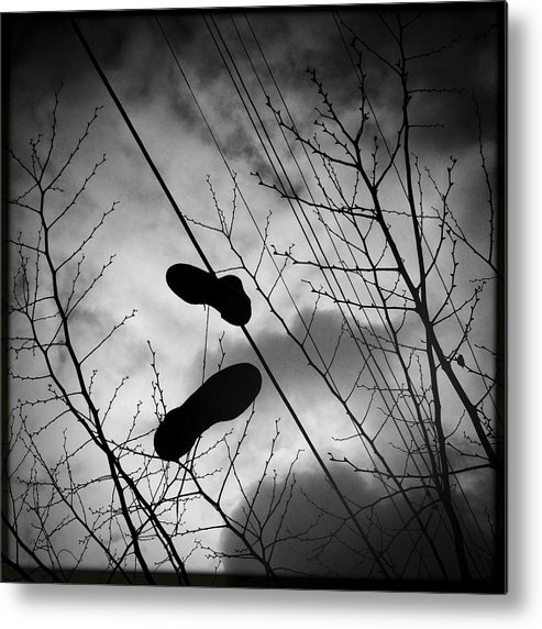 Trees Metal Print featuring the photograph Sky Walker by Elena Bouvier