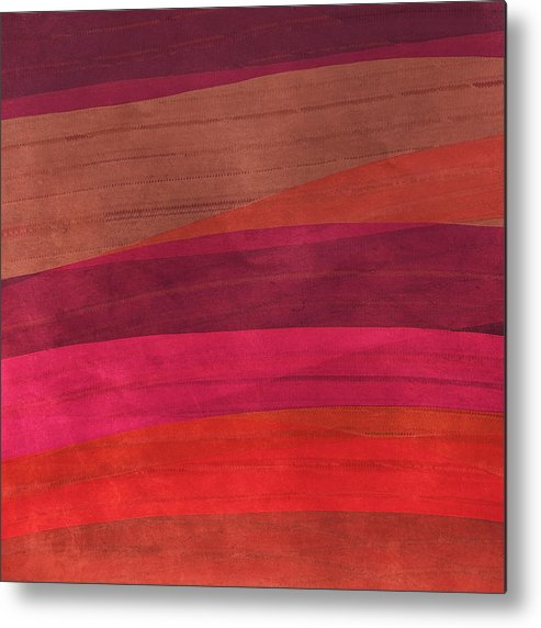Abstract Metal Print featuring the digital art Southwestern Sunset Abstract by Bonnie Bruno
