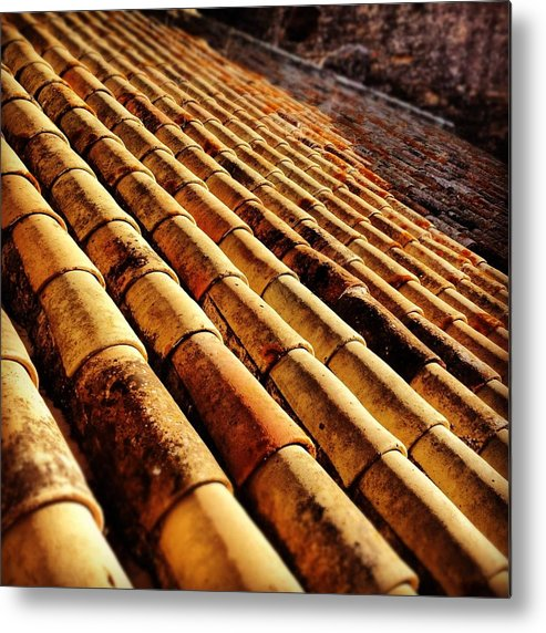 Building Metal Print featuring the photograph Spanish Shingles by Hannah Rose