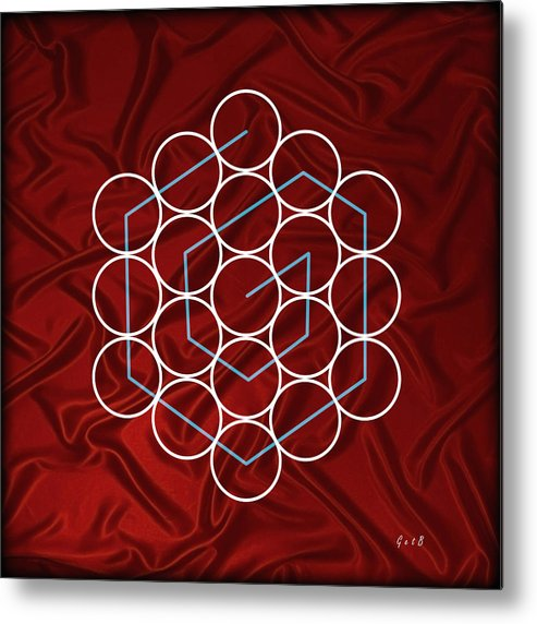 Illusion Of Sight Metal Print featuring the painting Spiral Of Evolution Expand Your Perception by Georgeta Blanaru
