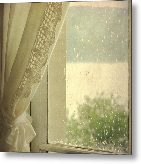 Sally Banfill Metal Print featuring the photograph Spring Rain by Sally Banfill