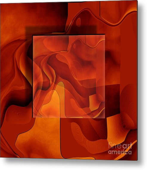 Conceptual Metal Print featuring the painting Square On Square by Christian Simonian
