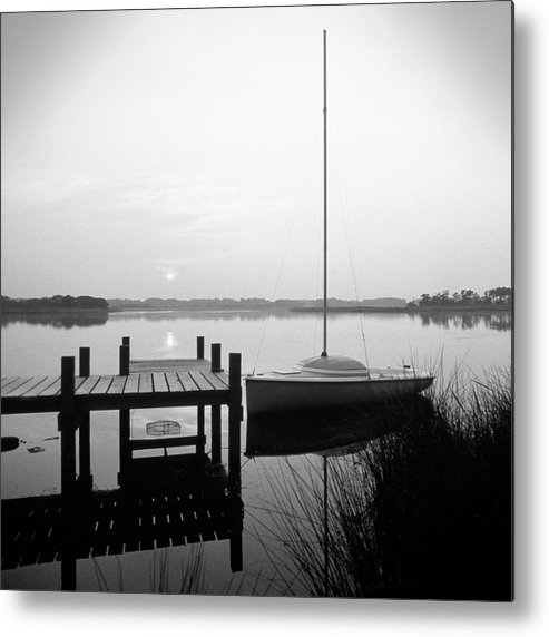 Sail Boat Metal Print featuring the photograph Sunrise Sail Boat by Mike McGlothlen