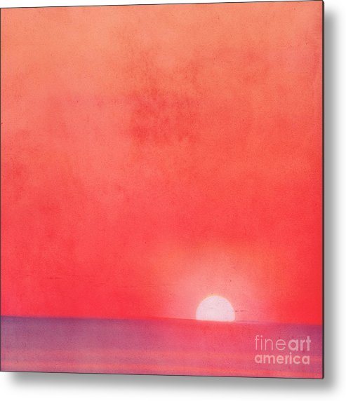 Sea Metal Print featuring the photograph Sunset Impression by Angela Doelling AD DESIGN Photo and PhotoArt