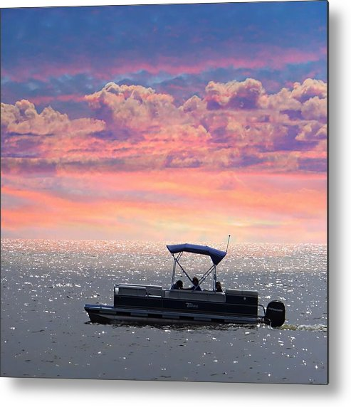 Beach Metal Print featuring the photograph Sunset On Grand Beach by Carol Cottrell