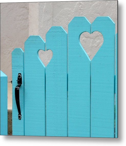 Hearts Metal Print featuring the photograph Sweetheart Gate by Art Block Collections