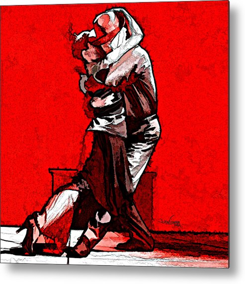 Tango Argentino Metal Print featuring the mixed media Tango Argentino - Melting Together by Reno Graf von Buckenberg