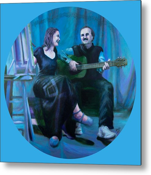 Shelley Irish Metal Print featuring the painting The Artists by Shelley Irish