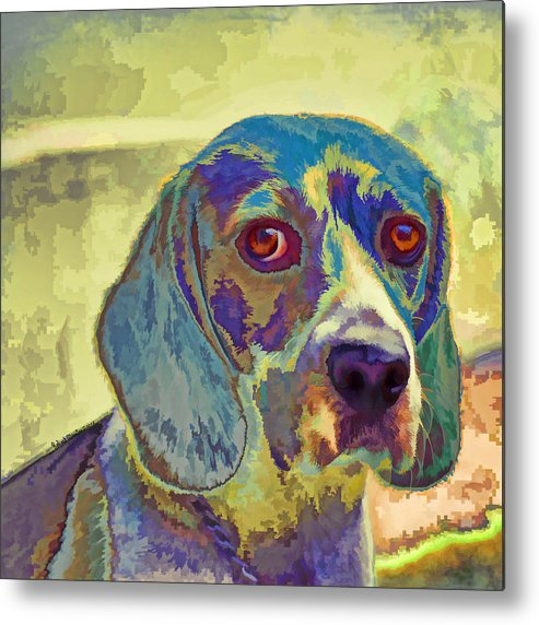 Dogs Metal Print featuring the painting The Beagle by Robert Maestas