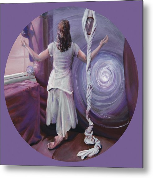 Shelley Irish Metal Print featuring the painting The Devotee by Shelley Irish