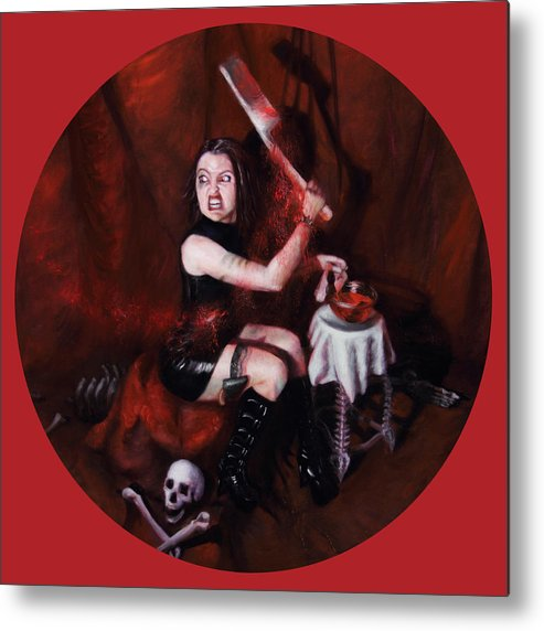 Shelley Irish Metal Print featuring the painting The Fearful by Shelley Irish